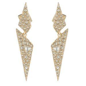 ALEXIS BITTAR • Crystal Encrusted Origami Earrings